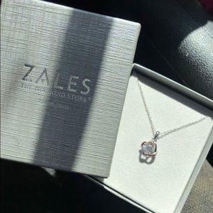NEW Zales Diamond Necklace